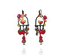 Lol Bijoux - Boucles d'Oreilles Chaperon Rouge - Perchoir - Oiseau - Orange