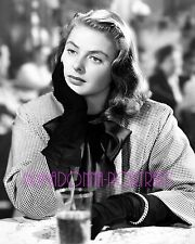 "INGRID BERGMAN 8x10 Lab Photo 1946 ""NOTORIOUS"" Dinner Jacket Classy Fashion"