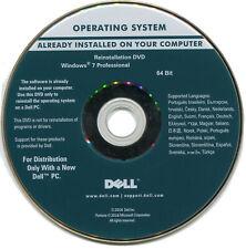 CD réinstallation windows 7 pro DELL 64 bit SP1 + clé activation