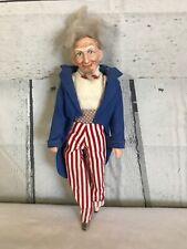"Vintage Uncle Sam 4th July Figure Porcelain Doll Marked ""Bright 1976"" RARE"