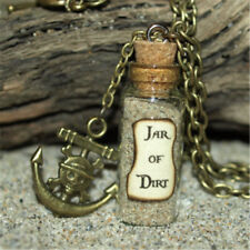Necklace Jar of Dirt glass Bottle Necklace with Pirate Anchor Charm necklace