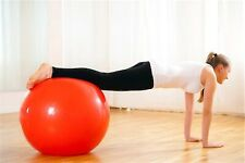 Red Exercise Ball & Pump *** Free P&P ***