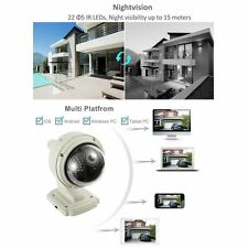 New Wireless IP Camera Dome IR Night Vision WiFi IR-Cut Outdoor Security Cam EM!