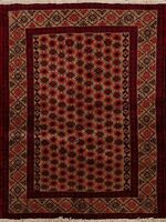 Geometric Balouch Hand-Made Oriental Area Rug Wool Home Decor Tribal Carpet 3x5