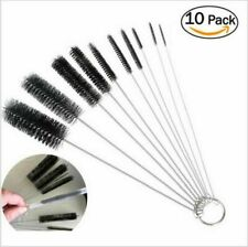 US Nylon Straw Brush Cleaner Bottle Tube Pipe Small Long Cleaning 10Pcs Set