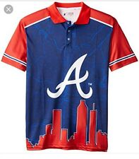 ATLANTA BRAVES OFFICIAL MLB MEN'S XL Short Sleeve Polo by Klew-NWT-$70
