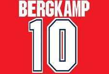 Bergkamp #10 Arsenal 1995-1997 Home Football Nameset for shirt