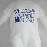 Baby Vest novelty slogan - Welcome To The World Little One