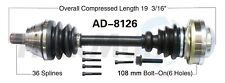 CV Axle Shaft Front Left SurTrack AD-8126