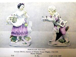 Post Card Porcelain Figures Berlin C.82 C1471-1927 Germany unused Unposted