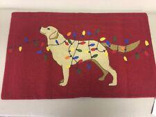 New Pottery Barn Tangled Labrador Red Lumbar Pillow Cover 16 x 26 Christmas Dog