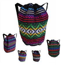 Hippie Festival Bobo Surfer Drawstring Backpack Tote Duffel Bag 100% COTTON IRIE
