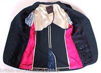 THOMAS PINK Navy Hand Customised Cotton Sports Coat Jacket Blazer UK38 IT48 MED