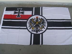 FAHNE/FLAGGE Reichskriegsflagge Kaiserreich Deutschland 90x150