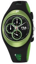 NEW Fila Mens Equinox Chrono Quartz Green Black Watch 205-06