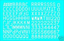 """RAF Numbers & Letters 24"""" 1/48 water slide transfer decals for 1946- WHITE FP895"""