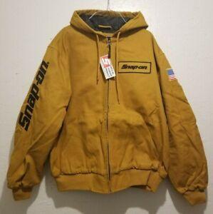 NEW Snap On Tools Men's Hooded Winter Work Jacket Coat Yellow/Mustard