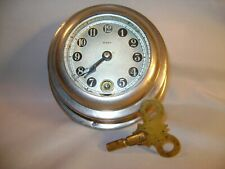Vintage New Haven Key Wind 8 Day Nautical Clock