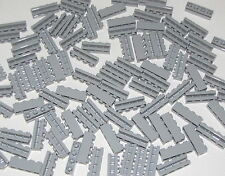 Lego Lot of 100 New Light Bluish Gray Bricks Modified 1 x 4 with Groove