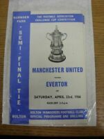 23/04/1966 FA Cup Semi-Final: Manchester United v Everton [At Bolton Wanderers]