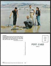 Old California Postcard - Pismo Beach - Clammers