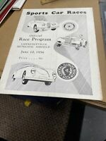 1956 Lawrenceville Municipal Airport Sports Car Road Racing Program Very Rare