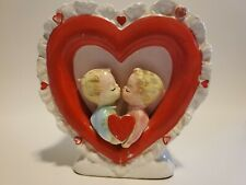 Vintage Relpo 1965 Valentine Heart Couple Planter Japan
