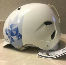 New Bern Bandita Snow Helmet  - Satin White Polar Bear w/ White Liner size S/M