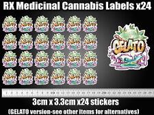 GELATO CALI Cannabis Labels 13 19 Dram pop top JAR TIN RX Medical Marijuana weed