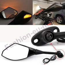 Black Rearview LED Side Mirrors For HONDA CBR600RR 2003-2011 CBR1000RR 2004-2007