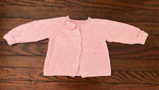 Janie and Jack Toddler Girl Pink Knit Cardigan Sweater - Size 2T