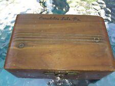 VINTAGE CANADOHTA LAKE PA souvenir CEDAR BOX  ????