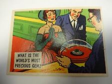 1957 Topps Isolation Booth What Is The World's Most Precious Gem ? Card #24