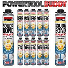 12 x Plaster Board Adhesive Dry-fix GUN GRADE 750ml PU ADHESIVE FOAM INSULATION