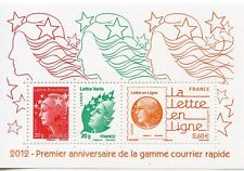 TIMBRE FRANCE NEUF BLOC  FEUILLET N° F4687 **  GAMME COURRIER RAPIDE