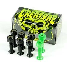 "Creature CSFU Black Green Skateboard Bolts 1"" New Free Delivery Skate Sk8"