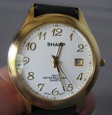 Sharp Quartz Date Watch with New Rubber Baracelet
