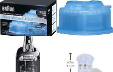 4 Pack Braun Clean Renew Cartridge Refills Series 3 5 7 Genuine Shaver Cleaner