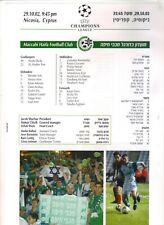 2002/03   Maccabi Haifa    v    Manchester United   Glossy Teasheet   MINT