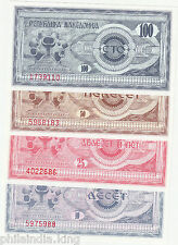 1992 MACEDONIA 10.25.50.100 denars (4 Pcs) Set ~~ UNC / Lowest Price