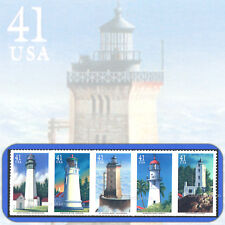 2007 Pacific Lighthouses Strip of 5 Mint Stamps in random order # 4146-4150a