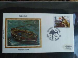 SILK  FISHING BRITISH  FDC 1981