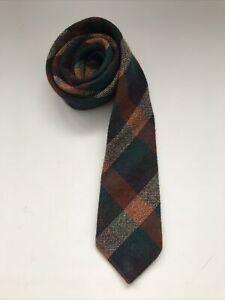 J Hanly Nenagh Ireland Vintage Men's Tie 100% Wool Neck Tie Irish Tweed Check