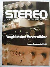 STEREO 1/82 SONDERDRUCK MARANTZ SC 6,4 SEITEN 2 BLÄTTER, DIN A 4