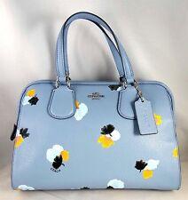 Coach Nolita Floral Pebbled Leather Satchel Bag 37176