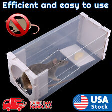White Humane Rat Trap Cage Animal Pest Rodent Mice Mouse Bait Catch Capture Tool