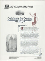 SSS: USPS 1998  Commemorative Panel #538A  Celebrate the Century 1920s  Sc #3184