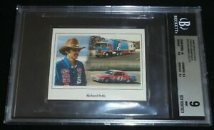 1986 Sportstar Photo Graphics Richard Petty Card BGS 9 Mint POP 3  Nascar HOF