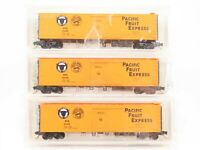 N Micro-Trains MTL PFE Pacific Fruit Express Belmont Shore Lines Reefer 3-Pack