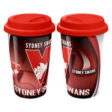 Sydney Swans AFL CERAMIC TRAVEL COFFEE MUG Birthday Work Bar Man Cave Gift
